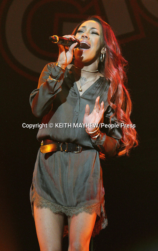 Stooshe perform at the Girlguiding Big Gig at Wembley Arena, London on October 4th 2014<br /> <br /> Photo by Keith Mayhew