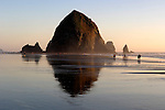 Haystack Rock and tidepools at Cannon Beach, OR