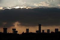 Daytime landscape view of Urban Residential Construction Development in Binhai, China.  © LAN