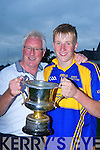 Kenmare Pat Spillane celebrates with his dad after they defeated St Kierans in Fitzgerald Stadium Wednesday night