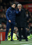 Tottenham Hotspur's Manager Jose Mourinho (R) looks on during the Premier League match at Old Trafford, Manchester. Picture date: 4th December 2019. Picture credit should read: Darren Staples/Sportimage