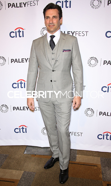 """HOLLYWOOD, LOS ANGELES, CA, USA - MARCH 21: Jon Hamm at the 2014 PaleyFest - """"Mad Men"""" held at Dolby Theatre on March 21, 2014 in Hollywood, Los Angeles, California, United States. (Photo by Celebrity Monitor)"""