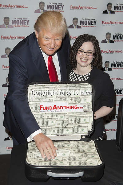 Donald Trump, Adena Reimer // NEW YORK, NY - MAY 8: Donald_Trump promotes FundAnything.com during a press conference at Trump Tower in New York City. May 8, 2013...Credit: MediaPunch/face to face..- Germany, Austria, Switzerland, Eastern Europe, Australia, UK, USA, Taiwan, Singapore, China, Malaysia, Thailand, Sweden, Estonia, Latvia and Lithuania rights only -