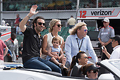 May 28th Indianapolis Speedway, Indiana, USA;  3-time Indy 500 winner Dario Franchitti with his family prior to the 101st Indianapolis 500 on May 28, 2017, at the Indianapolis Motor Speedway in Indianapolis, Indiana.