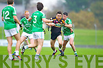 Paul O'Donoghue Austin Stacks in action against Flor McAuliffe Saint Kierans in the Quarter Finals of the County Championship at Austin Stack Park on Sunday.