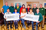 The Ballinskelligs Christmas Day swim raised €11,100 which was divided between Iveragh Mental Health & the Irish Pilgrimage Trust, pictured front l-r; Jackie O'Sullivan(Iveragh MH), Evelyn Goggin, Síle Ní Shiochrú, Suzanne King(IPT), John Keating(IPT 135).back l-r; Aidan Browne, Denis Daly, John O'Shea, Anne Bowler, Teresa Cronin, Michael Quirke & Peter Holthusen.