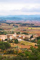 Azillanet Minervois. Languedoc. France. Europe. View over the Minervois plain.