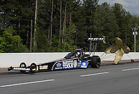 May 11, 2013; Commerce, GA, USA: NHRA top fuel dragster driver Antron Brown after winning the Southern Nationals at Atlanta Dragway. Mandatory Credit: Mark J. Rebilas-