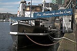 The brasserie on the quay. Urban redevelopment of docks, Ipswich Wet Dock, Suffolk, England