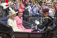 17 June 2017 - London, England - Duchess Kate, Princess Kate, Duchess of Cambridge and Prince Harry and Camilla, Duchess of Cornwall<br /> . The ceremony of the Trooping the Colour, marking the monarch's official birthday, in London. Photo Credit: PPE/face to face/AdMedia