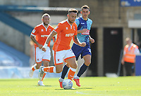Blackpool's John O'Sullivan under pressure from Wycombe Wanderers' Matt Bloomfield<br /> <br /> Photographer Kevin Barnes/CameraSport<br /> <br /> The EFL Sky Bet League One - Wycombe Wanderers v Blackpool - Saturday 4th August 2018 - Adams Park - Wycombe<br /> <br /> World Copyright &copy; 2018 CameraSport. All rights reserved. 43 Linden Ave. Countesthorpe. Leicester. England. LE8 5PG - Tel: +44 (0) 116 277 4147 - admin@camerasport.com - www.camerasport.com