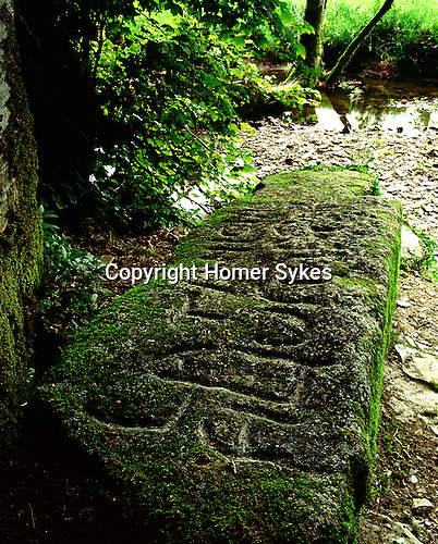 King Arthurs Grave, Slaughterbridge, Cornwall. Uk. Celtic Britain published by Orion