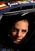 Feb 10, 2007; Daytona, FL, USA; Nascar Nextel Cup driver Juan Pablo Montoya (42) during practice for the Daytona 500 at Daytona International Speedway. Mandatory Credit: Mark J. Rebilas..