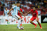 Carlos Correa of Argentina (L) in action during the International Test match between Argentina and Singapore at National Stadium on June 13, 2017 in Singapore. Photo by Marcio Rodrigo Machado / Power Sport Images