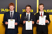 Boys Cycling finalists Nick Bain, Scott Ambrose and James Judd. ASB College Sport Young Sportsperson of the Year Awards held at Eden Park, Auckland, on November 24th 2011.