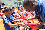 Mark Bright signs autograph at a morning training session with Hong Kong children for the launch of the Premier League Asia Trophy 2017 at the Hong Kong Football Club on 01 June 2017 in Hong Kong, China Photo by Chris Wong / Power Sport Images