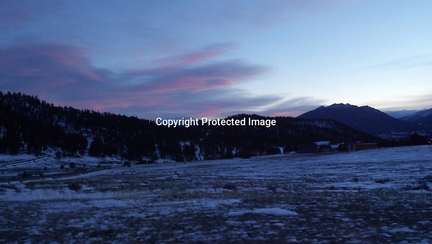 Sunset over Rocky Mountains