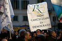 Roma 4 Marzo 2010.Manifestazione con Renata Polverini in piazza Farnese  Pdl Lazio per sostenere la battaglia per il reinserimento delle liste escluse dalle Regionali