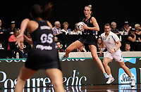 23.02.2018 Silver Ferns Michaela Sokolich-Beatson in action during the Silver Ferns v Fiji Taini Jamison Trophy netball match at the North Shore Events Centre in Auckland. Mandatory Photo Credit ©Michael Bradley.