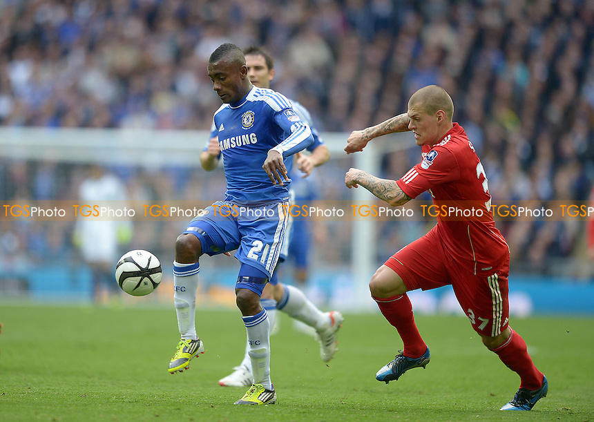Salomon Kalou of Chelsea and Martin Skrtel of Liverpool - Chelsea vs Liverpool - FA Challenge Cup Final at Wembley Stadium, London - 05/05/2012 - MANDATORY CREDIT: Martin Dalton/TGSPHOTO - Self billing applies where appropriate - 0845 094 6026 - contact@tgsphoto.co.uk - NO UNPAID USE.