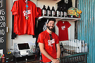 The retail shop at Coney Island Brewery