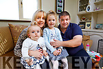 Karen and Thomas O'Flaherty, Ballymacelligott, Tralee with their children Rose and Kate, Rose suffers from Spinal Muscular Atrophy.