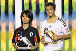(L to R) Yoko Tanaka (JPN), Lena Lotzen (GER), .SEPTEMBER 8, 2012 - Football / Soccer : .FIFA U-20 Women's World Cup Japan 2012, Medal Ceremony .at National Stadium, Tokyo, Japan. .(Photo by Daiju Kitamura/AFLO SPORT) [1045]