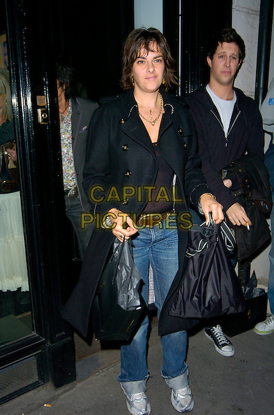 TRACEY EMIN.Attending Ronnie Wood's Josephine Private View .at Scream Gallery, Bruton Street, London, England, .29th March 2007..full length black coat jeans trainers.CAP/CAN.©Can Nguyen/Capital Pictures