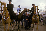 Richard Dunwoody the so called housewives' favourite came home to win the 1986 race against all the odds. He is riding West Tip.  Grand National Horse race Aintree Lancashire England annually March  The English Season published by Pavilon Books 1987