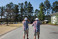 PINEHURST, NC - JUNE 15: Father and son. Scenes from the U.S. Open Championship at Pinehurst, North Carolina on Sunday, June 15, 2014. (Photo by Landon Nordeman)