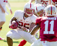 STANFORD, CA - MARCH 7, 2014--Stanford's Barry Sanders, during Open Football Practices at Stanford University.