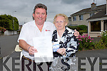 May O'Brien who sold Timmy O'Brien Knockmoyle Tralee, the winning  Kerins O'Rahilly's GAA Club Strand Road, Tralee  Lotto Ticket, and Timmy won EUR11,800...