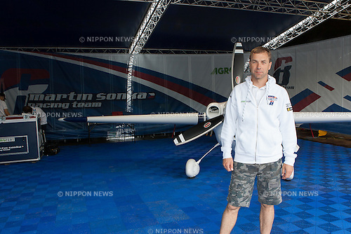 Martin Sonka at the 2015 Red Bull Air Race on May 17th, 2015 in Chiba, Japan.<br /> This is the first time the Red Bull Air Race has been held in Japan and some 120,000 spectators attended the the race weekend. (Photo by Michael Steinebach/Aflo)