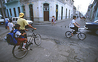 10 FEB 2003 - SANTA CLARA, CUBA - School run Cuban style (PHOTO (C) NIGEL FARROW)