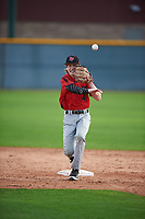 Jackson Gazin (4) of BOYS' LATIN High School in Reisterstown, Maryland during the Under Armour All-American Pre-Season Tournament presented by Baseball Factory on January 14, 2017 at Sloan Park in Mesa, Arizona.  (Mike Janes/MJP/Four Seam Images)