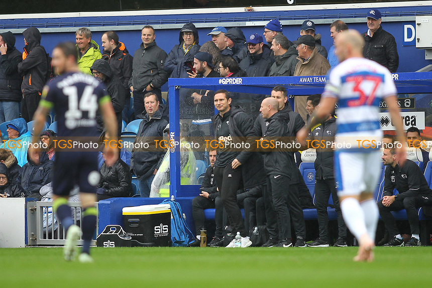Derby County manager Frank Lampard during Queens Park Rangers vs Derby County, Sky Bet EFL Championship Football at Loftus Road Stadium on 6th October 2018