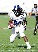 Armwood Hawks running back Matthew Jones #24 runs upfield during the first quarter of the Florida High School Athletic Association 6A Championship Game at Florida's Citrus Bowl on December 17, 2011 in Orlando, Florida.  The score at halftime is Armwood 16 - Miami Central 14.  (Mike Janes/Four Seam Images)