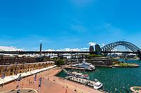 The Rocks and Sydney Harbour Bridge, Sydney, New South Wales, Australia