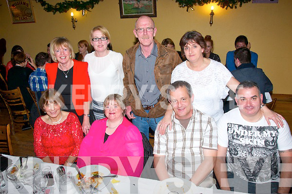 Friends of Able, Killeen, Tralee had great craic at the Christmas party in Stokers Lodge, Tralee last Saturday night (seated) l-r: Maureen Scannell, Grace O'Mahony, Tommy Murphy and Kieran Connolly. Back l-r: Helen Flint, Joanne Foley, James Higgins and Ann Connolly.