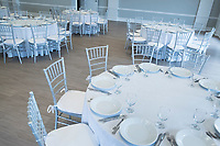 The newly renovated Rose Island Ballroom is seen at Gurney's Newport Resort and Marina, which was formerly a Hyatt Regency hotel, on Goat Island in Newport, Rhode Island, on Wed., April 19, 2017. The entire hotel will be renewed with an approximately $18 million renovation to be completed by Memorial Day 2017. Almost everything in the ballroom was replaced.