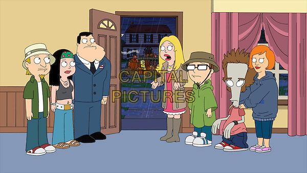 American Dad! (2005 - )<br /> (Season 7)<br /> When a storm hits Langley Falls, and the Smiths decide to stay home, they must fight tooth and nail to survive.<br /> *Filmstill - Editorial Use Only*<br /> CAP/KFS<br /> Image supplied by Capital Pictures