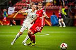 25.07.2017, Stadion Galgenwaard, Utrecht, NLD, Tilburg, UEFA Women's Euro 2017, Russland (RUS) vs Deutschland (GER), <br /> <br /> im Bild | picture shows<br /> Kristin Demann (Deutschland #6) | (Germany #6) gegen Nadezhda Smirnova (Russland | Russia #10), <br /> <br /> Foto © nordphoto / Rauch