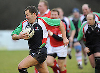 Action during the charity match between the Ulster 1999 XV and a Wooden Spoon Select XV at Shaw's Bridge Belfast.  Mandatory Credit - Photo : Oliver McVeigh