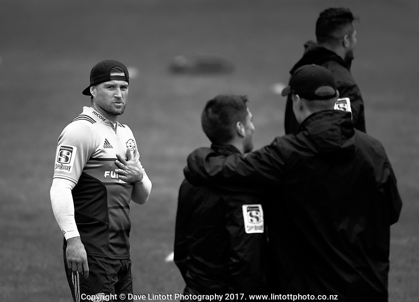 Cory Jane.  Hurricanes rugby union training at Rugby League Park in Wellington, New Zealand on Wednesday, 5 April 2017. Photo: Dave Lintott / lintottphoto.co.nz