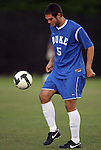 11 October 2009: Duke's Matthew Thomas. The Duke University Blue Devils defeated the University of North Carolina Greensboro Spartans 3-0 at Koskinen Stadium in Durham, North Carolina in an NCAA Division I Men's college soccer game.