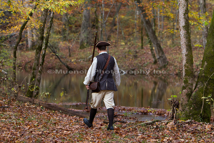 HIstory reenactor Daniel Kimes, Sweetwater Branch, Natchez Trace Parkway