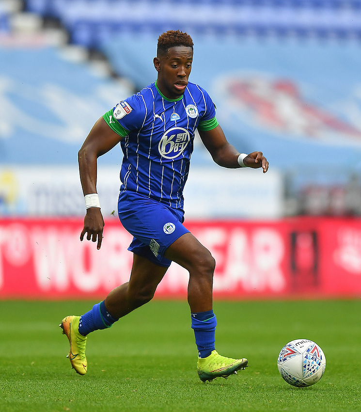 Wigan Athletic's Jamal Lowe<br /> <br /> Photographer Dave Howarth/CameraSport<br /> <br /> The EFL Sky Bet Championship - Wigan Athletic v Fulham - Wednesday July 22nd 2020 - DW Stadium - Wigan<br /> <br /> World Copyright © 2020 CameraSport. All rights reserved. 43 Linden Ave. Countesthorpe. Leicester. England. LE8 5PG - Tel: +44 (0) 116 277 4147 - admin@camerasport.com - www.camerasport.com