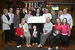 The Sunday Club who held a Football Bonanza and raised EUR5166.10 for Our Ladies Hospital for Sick Children, Crumlin.  Tony Lennon, Treasurer presents the cheque to Gerry Cully of Crumlin Childrens Hospital..Photo NEWSFILE/Jenny Matthews.(Photo credit should read Jenny Matthews/NEWSFILE)....This Picture has been sent you under the condtions enclosed by:.Newsfile Ltd..The Studio,.Millmount Abbey,.Drogheda,.Co Meath..Ireland..Tel: +353(0)41-9871240.Fax: +353(0)41-9871260.GSM: +353(0)86-2500958.email: pictures@newsfile.ie.www.newsfile.ie.FTP: 193.120.102.198.