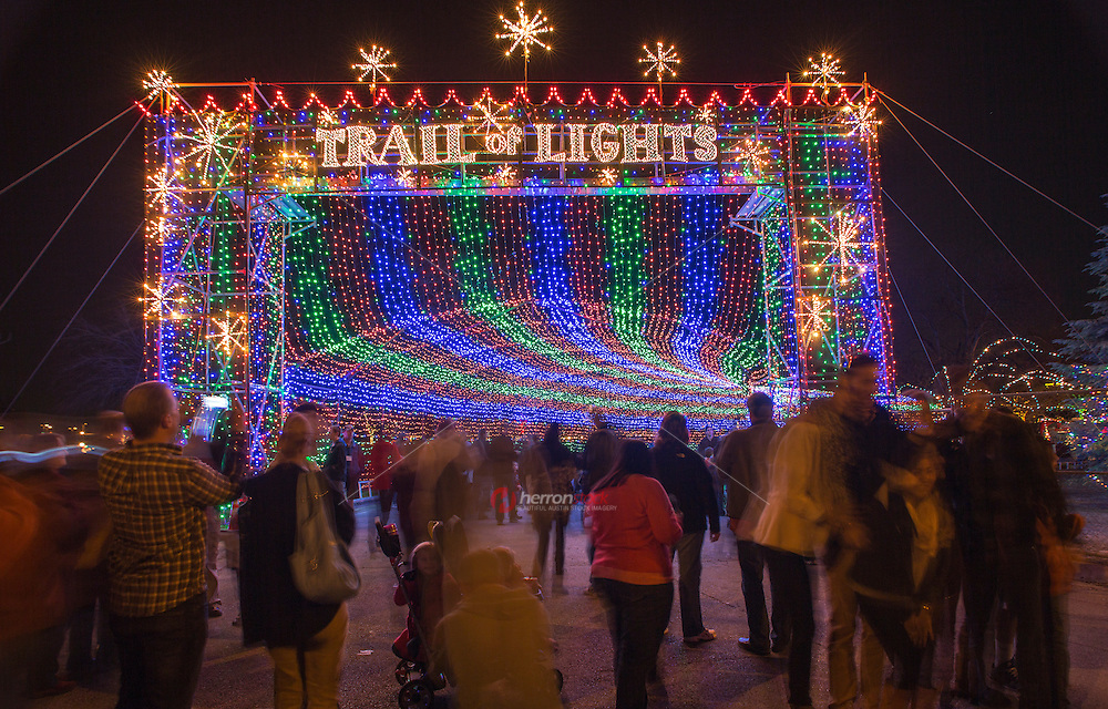 Entrance to the Zilker Park Trail of Lights, making wonderful holiday tradition memories for a new generation of Austinites