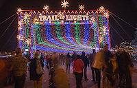 Zilker Park Trail of Lights Christmas light show for families & children - Stock Photo Image Gallery